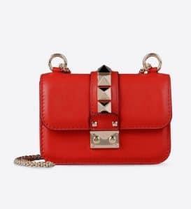 Valentino Fuchsia Pink Rockstud Lock Flap Mini Bag