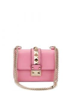 Valentino Light Pink Rockstud Lock Flap Mini Bag
