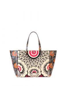 Valentino Multicolor Floral Printed Tote Bag