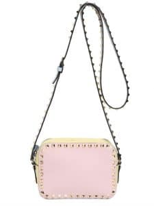 Valentino Pink/Yellow/Light Green Watercolor Rockstud Camera Case Bag