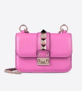 Valentino Red Rockstud Lock Flap Mini Bag