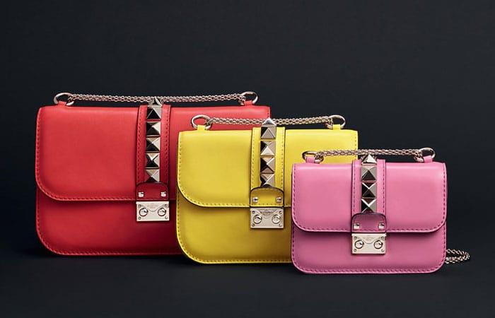 Valentino Rockstud Lock Flap Bags