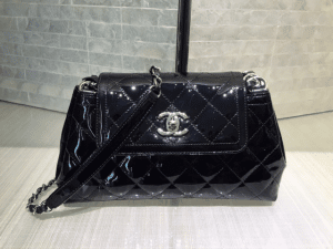 Chanel Black Coco Shine Accordion Small Bag
