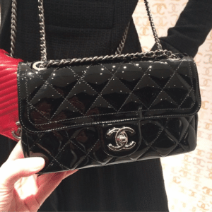Chanel Black Coco Shine Flap Bag