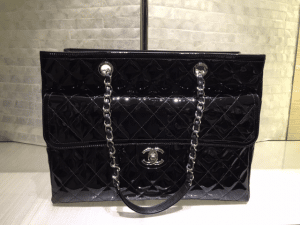 Chanel Black Coco Shine Tote Large Bag