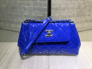 Chanel Blue Coco Shine Accordion Small Bag