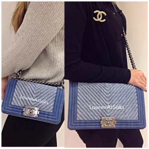 Chanel Denim Chevron Boy Small:Medium Bags