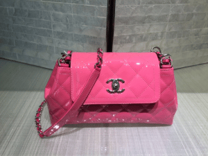 Chanel Pink Coco Shine Accordion Small Bag 2