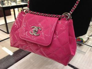 Chanel Pink Coco Shine Accordion Small Bag