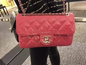 Chanel Pink Coco Shine Flap Bag
