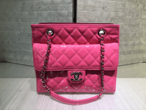 Chanel Pink Coco Shine Tote Small Bag
