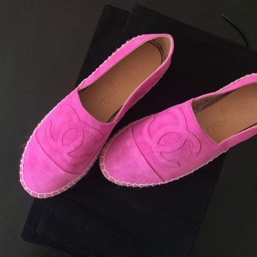 Chanel Pink Suede Espadrilles