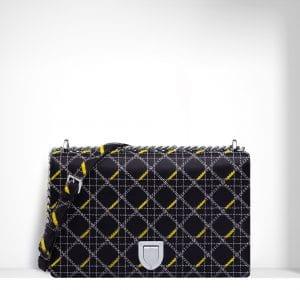 Dior Black Tufted Diorama Large Flap Bag