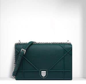 Dior Deep Green Diorama Large Flap Bag