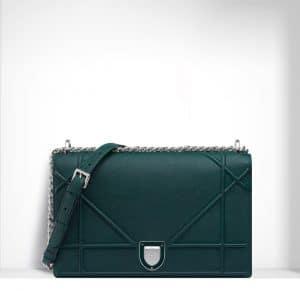 Dior Deep Green Diorama Large Flap Bag