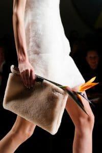 Fendi Beige Shearling Clutch Bag - Fall 2015 Runway