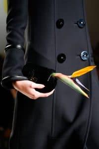 Fendi Black Fur Mini Baguette Bag - Fall 2015 Runway