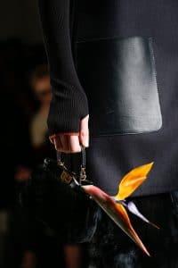 Fendi Black Fur Peekaboo Micro Bag - Fall 2015 Runway