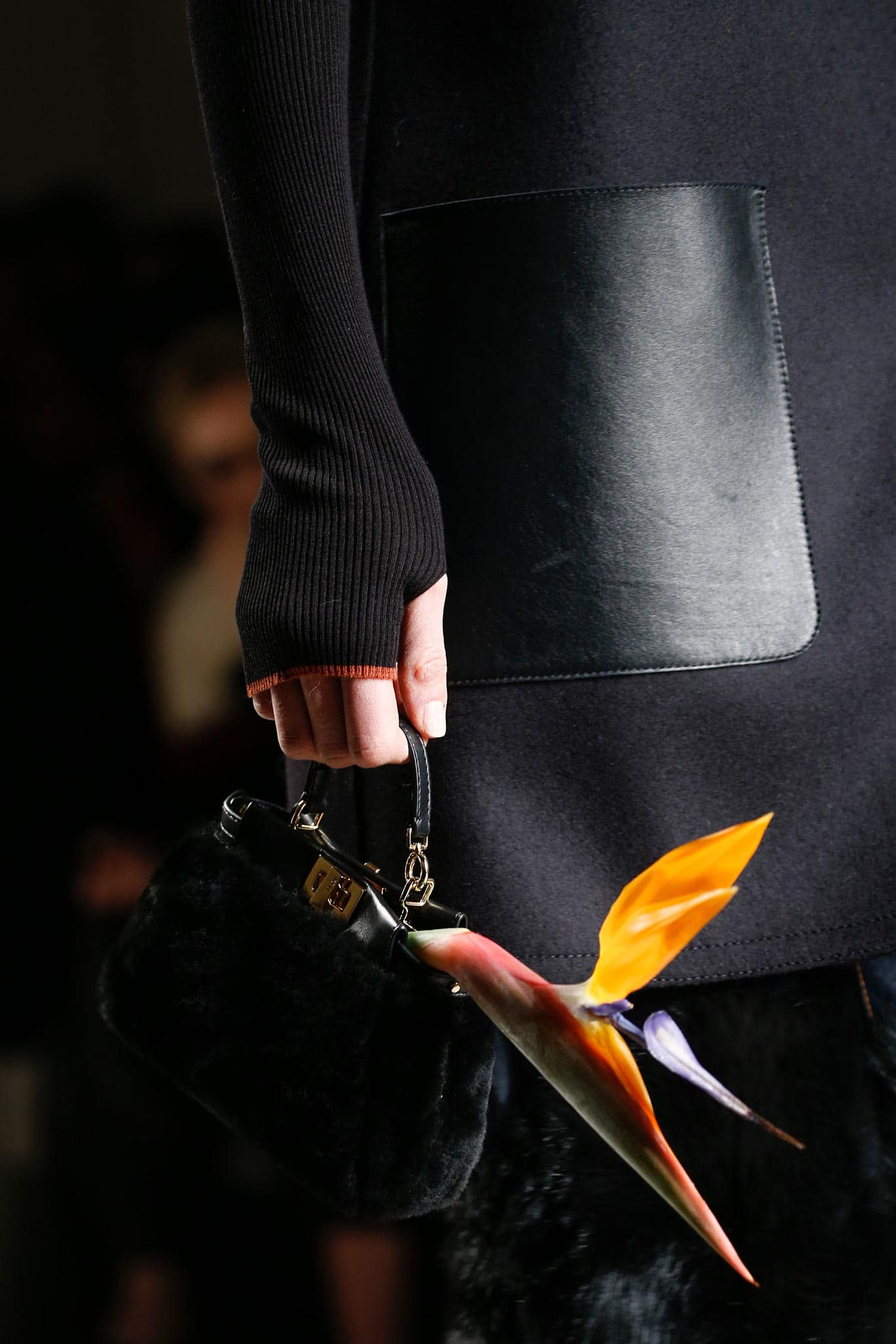 Fendi spring summer 2015 runway bag collection spotted fashion - Fendi Black Fur Peekaboo Micro Bag Fall 2015 Runway