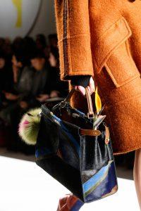Fendi Black Multicolor Calf Hair Peekaboo Bag - Fall 2015 Runway