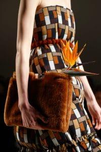 Fendi Brown Fur Clutch Bag - Fall 2015 Runway