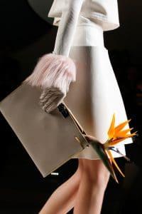 Fendi Grey Leather Clutch Bag - Fall 2015 Runway