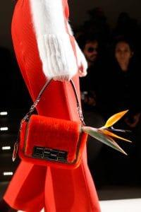 Fendi Red Fur Baguette Bag - Fall 2015 Runway
