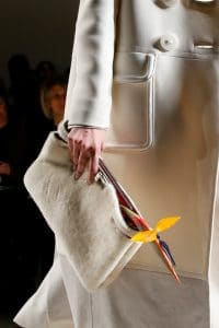 Fendi White Fur Clutch Bag - Fall 2015 Runway