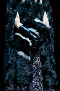 Marc Jacobs Black/White Fur Clutch Bag - Fall 2015