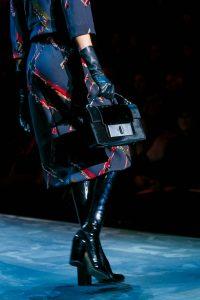 Marc Jacobs Dark Blue/Black Velvet Bag - Fall 2015