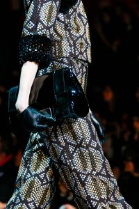 Marc Jacobs Dark Blue/Black Velvet:Patent Clutch Bag - Fall 2015