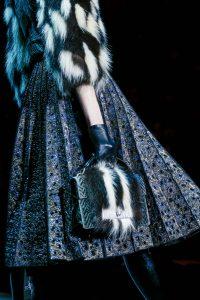 Marc Jacobs Grey Chevron with Fur Bag - Fall 2015