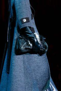 Marc Jacobs Grey Chevron with Fur Clutch Bag - Fall 2015