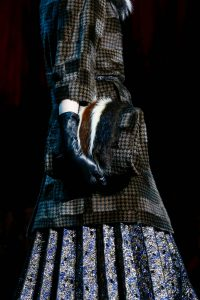 Marc Jcobs Brown/Black Houndstooth Print with Fur Bag - Fall 2015