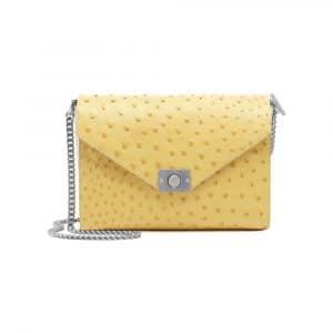 Mulberry Camomile/Cream Ostrich Delphie Bag