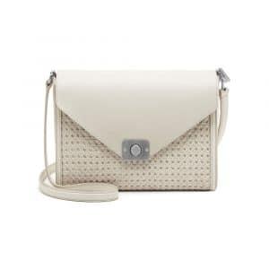 Mulberry Cream/Powder Duo Colour Woven Leather Delphie Bag