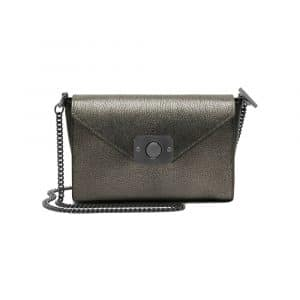Mulberry Dark Silver Metallic/Black Small Delphie Bag