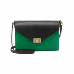 Mulberry Jungle Green/Midnight Blue Heavy Suede with Black Calf Leather Delphie Bag
