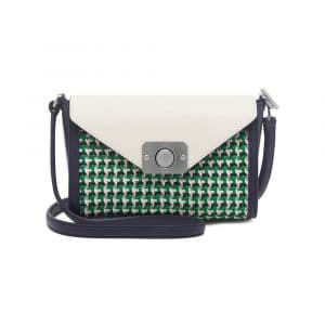 Mulberry Jungle Green/Midnight Blue/Cream Woven Leather Small Dephie Bag