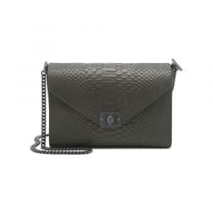 Mulberry Mole Grey/Black Silky Snake Leather Delphie Bag