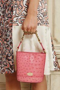 Mulberry Pink Ostrick Mini Jamie Bucket Bag - Fall 2015