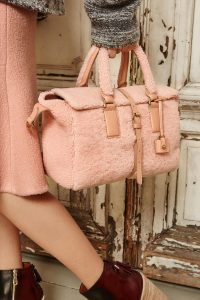 Mulberry Rose Petal Shearling Roxette Bag - Fall 2015