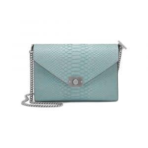 Mulberry Sky Blue/Midnight Blue Silky Snake Leather Delphie Bag