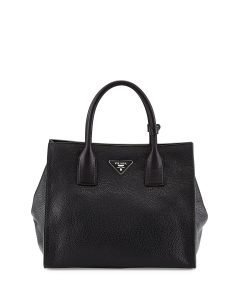 Prada Black Daino Tote Bag