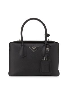 Prada Black Saffiano Twin Bag