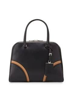 Prada Black Vachetta Satchel Bag