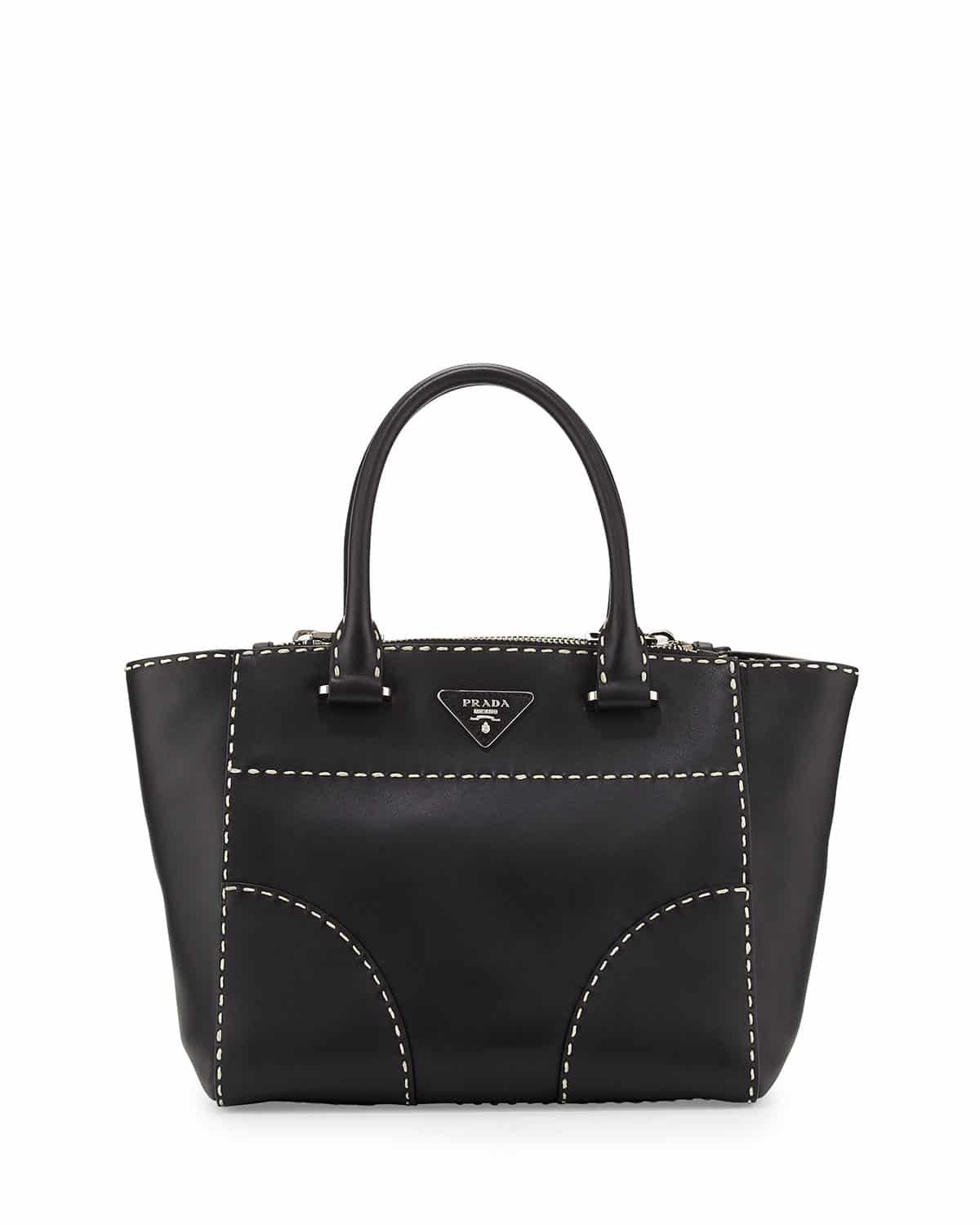 f7581183339f Prada Spring   Summer 2015 Bag Collection featuring Large Stitching ...