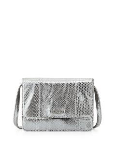 Prada Chrome Metallic Snake Lux Mini Crossbody Bag