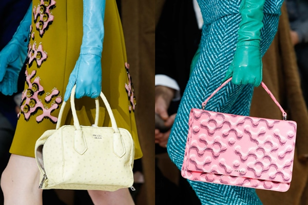 Prada Fall Winter 2015 Runway Bag Collection Featuring Pastel Colors ... 97f068935ac82