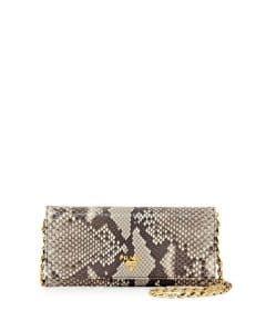Prada Natural Python Wallet On A Chain Bag